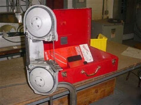 bench mounted band saw milwaukee portable band saw w bench mount
