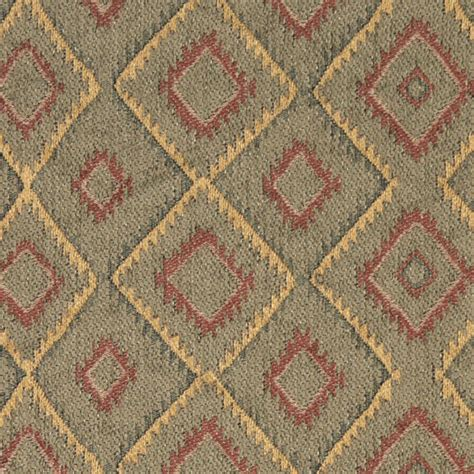 upholstery fabric southwest burgundy gold and green diamond southwest style