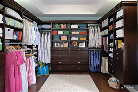 living in a walk in closet easyclosets com showroom
