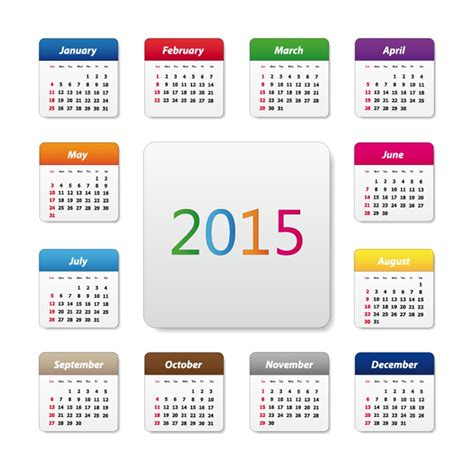calendar design 2015 vector free download 2015 calendar design vector illustration free vector