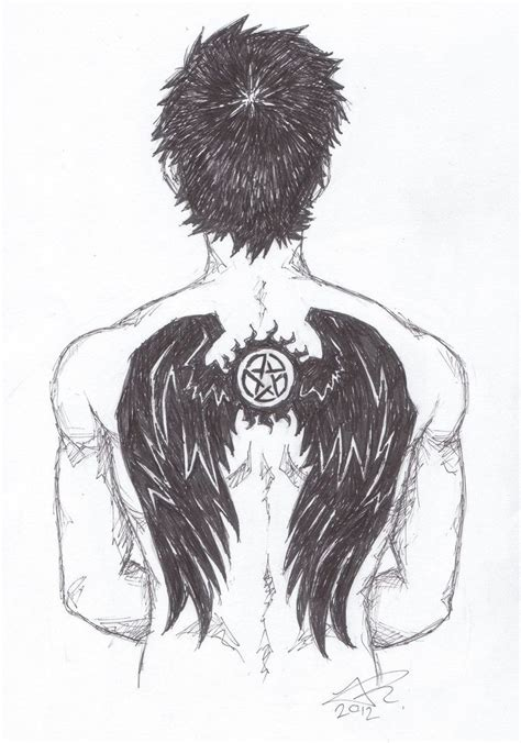 castiel tattoo castiel anti possession symbol fanart