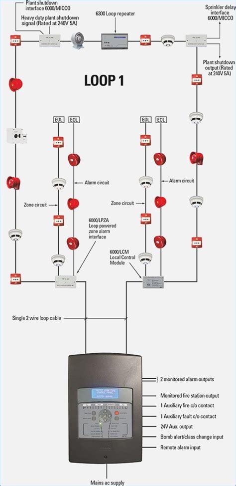 wiring diagram addressable alarm gallery wiring