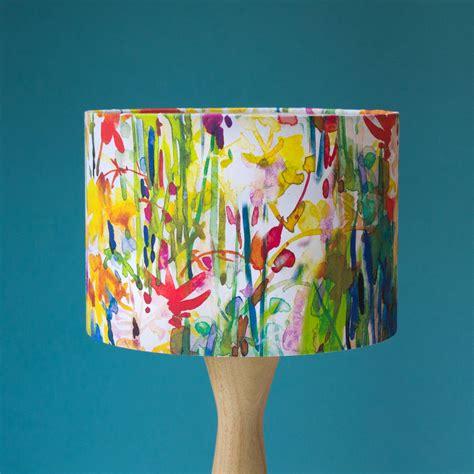 Flowerbed Watercolour Lshade By Diana Fegredo Studio