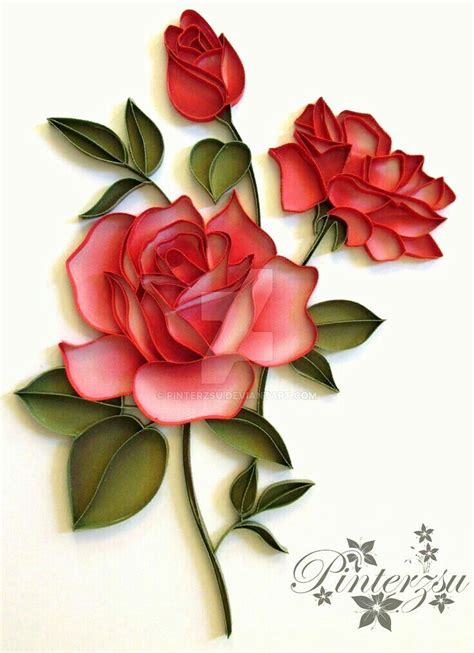 Paper Quilling Roses - 126 best images about quilled roses on