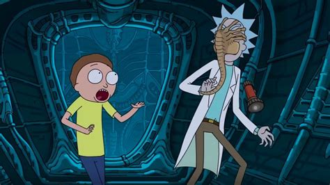 design by humans rick and morty rick and morty get attacked by a facehugger in alien