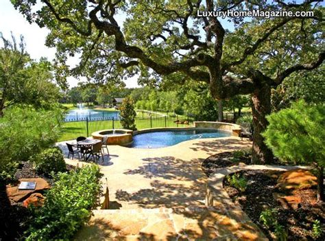 backyard fort worth luxury home magazine dallas ft worth luxuryhomes