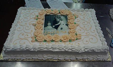 50th Wedding Anniversary sheet cake   My Culinary