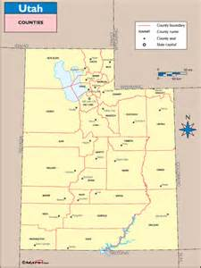 utah counties and county seats map by maps from maps