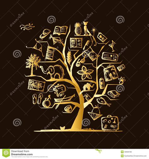 concept your design travel tree concept for your design stock photo image