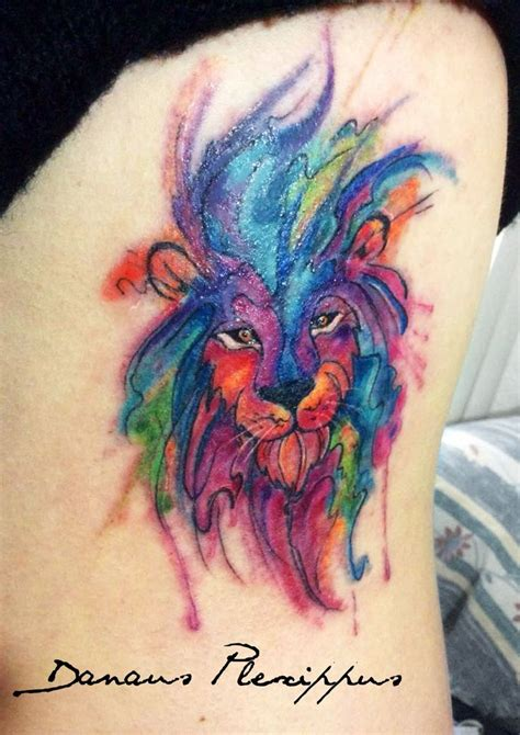 colorful lion tattoo 25 best ideas about watercolor on