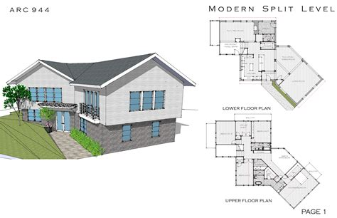 Modern House Plans Split Level Modern House Free House Architecture Design