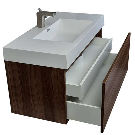 Bathroom Vanity Contemporary Modern Bathroom Vanity In Walnut Finish Tn A1000 Wn