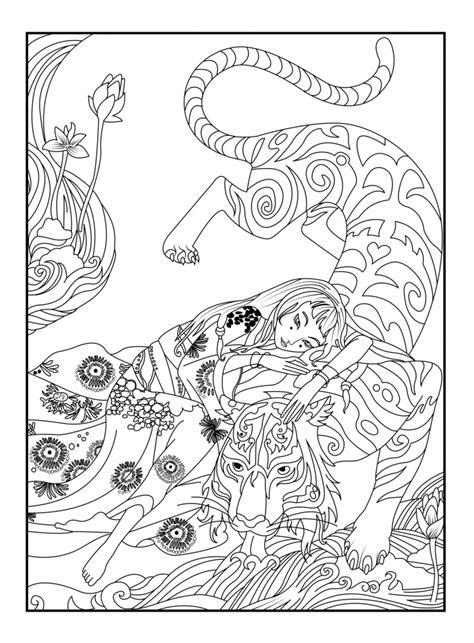 intricate tiger coloring pages get this free stained glass coloring pages 92143