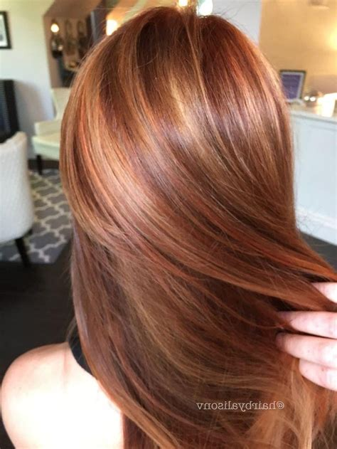 hairstyles red highlights 15 photo of long hairstyles red highlights