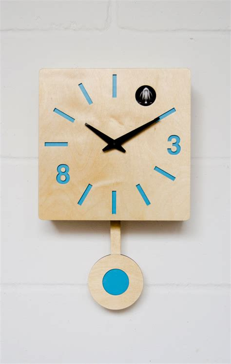 modern cuckoo clock modern cuckoo clock with moving bird blue quadri