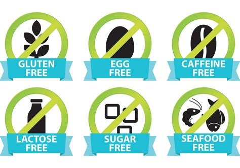 allergen free food food allergy icons free vector stock graphics images