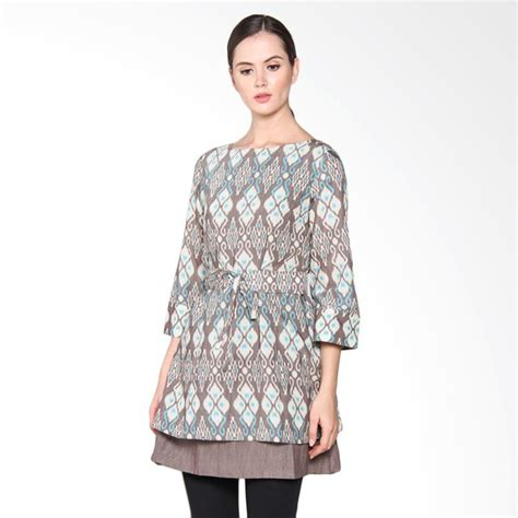 Tunik Tenun Songketblouse Tunikatasan Wanita jual batik arjunaweda 25098037 rn tenun lombok tunik batik abu abu harga