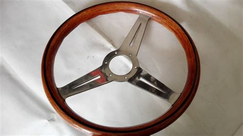 volante tipo volante tipo nardi acabado madera aluminio lleva regalo