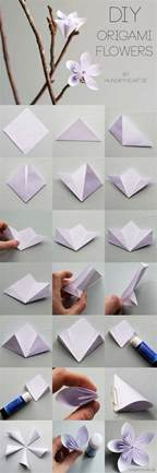 Easy Origami Flower Step By Step - 40 best diy origami projects to keep your entertained