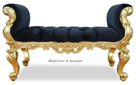 Kursi Sofa Roche absolom roche bench gold leaf baroque gold leaf and