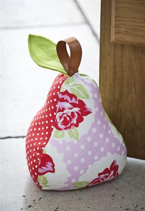 Patchwork Door Stop Pattern - patchwork pear doorstop pear