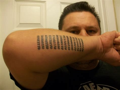 binary tattoo quot zeros and ones quot in binary picture