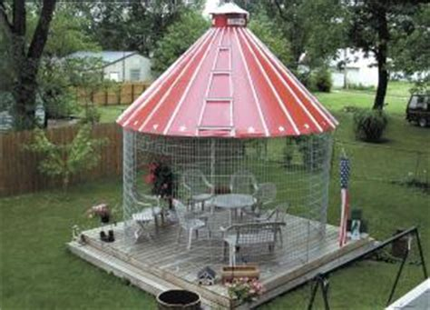 Metal Corn Crib For Sale by Farm Show Dressed Up Corn Crib Now An Eye Catching Gazebo