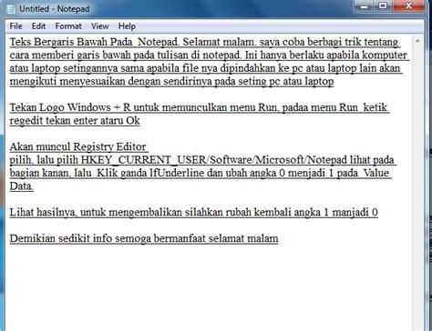 cara membuat form html notepad cara membuat teks bergaris bawah pada notepad blog info