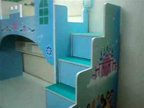 Disney Princess Castle Wall Stickers castle themes girls bunk bed kids furniture mumbai