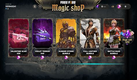 daftar hadiah bundle terbaru event magic shop ff desember