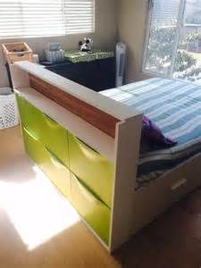 Ikea Bed Storage Hack trones storage headboard ikea hackers ikea hackers