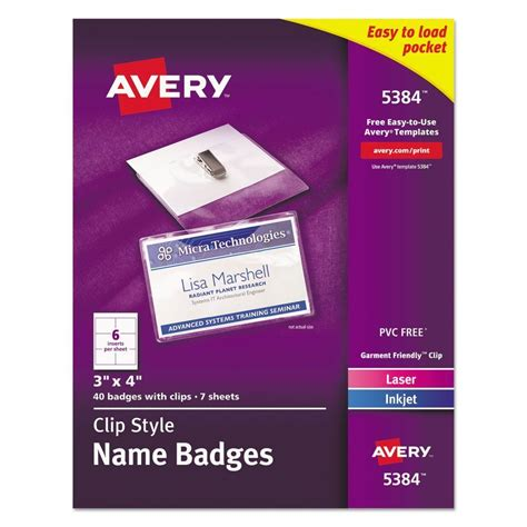 avery printable id cards avery clip on name badges ave5384 ebay