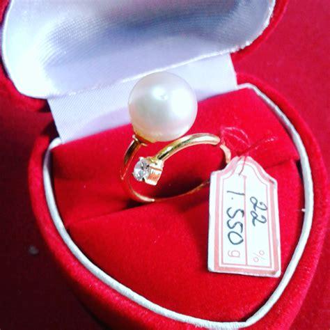 Mutiara Asli Lombok Flower Ring handmade gold ring with south sea pearl cez 43 harga mutiara lombok perhiasan toko emas