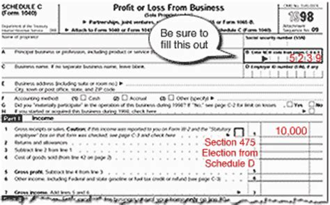 irs section 475 how to file a return that tells the irs you re a trader