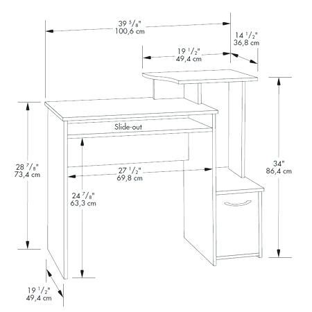 average computer desk depth average computer desk height average computer desk height