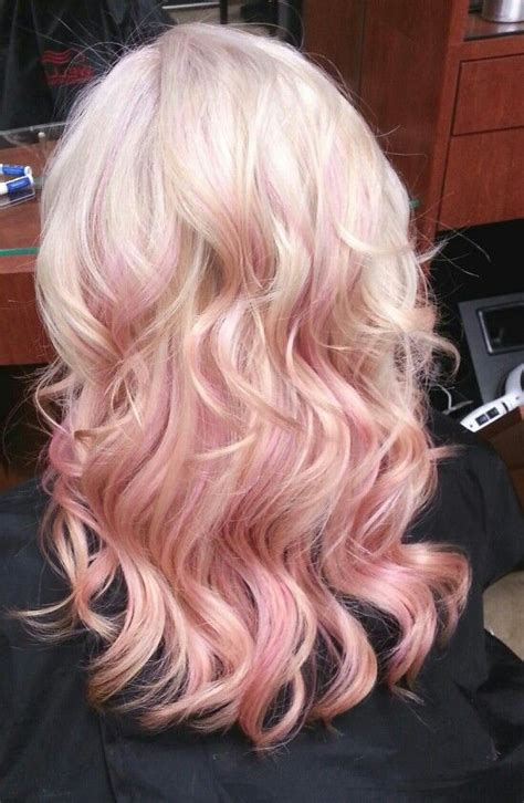 hairstyles with blonde and pink highlights blonde with pink highlights hairstyles pinterest