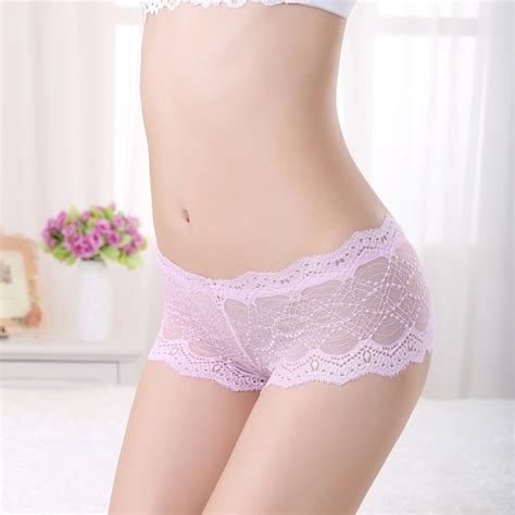 womens see through boxers lace briefs