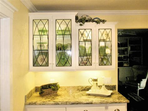 leaded glass kitchen cabinets all clear kitchen cabinet inserts stainedglasswindows com