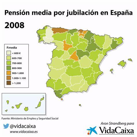 proximo aumento jubilacion y pension 2016 pensi 243 n media por jubilaci 243 n en espa 241 a vidacaixa