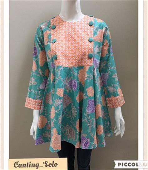 desain gaun batik kombinasi 15 ide baju atasan batik desain cantik model terbaru