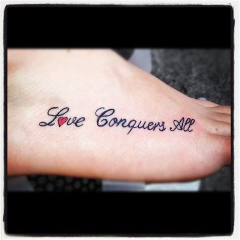love conquers all tattoo designs girly tattoos conquers all
