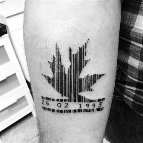 barcode tattoo with birthday 30 barcode tattoo designs for men parallel line ink ideas