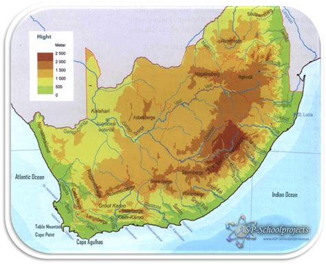 africa map rivers and mountains tests and exercises for school all subjects