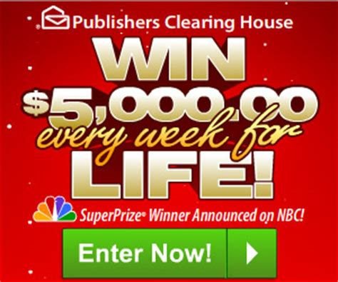 Nbc Pch Winner Announcement - pch 5000 a week for life sweepstakes enter online sweeps