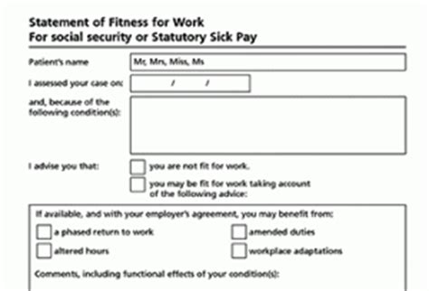 statement of fitness for work template august 2013 clb employment solutions