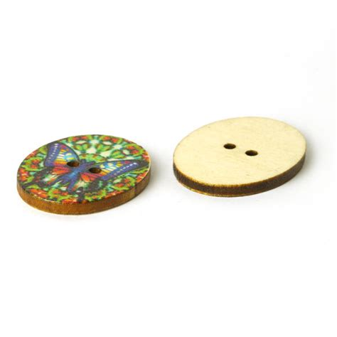 Sale Wooden Button Kancing Kayu Butterfly Motif wood button papillon colore 10 green buttonsfavorable buying at our shop