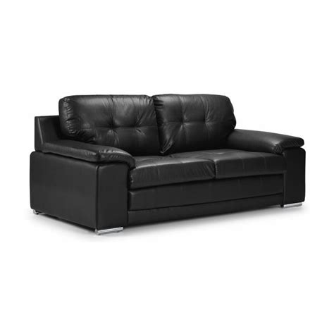 the denver 3 seater leather sofa