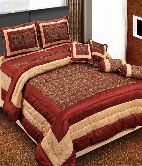 Bed Cover Wedding 2 click shoppe brown spark wedding bedding set 8 pcs quilt bed sheet 2 pillow covers 2