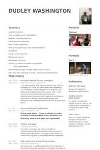 Fitness Resume Sle by Sle Resume Personal Fitness Trainer Resume Sle
