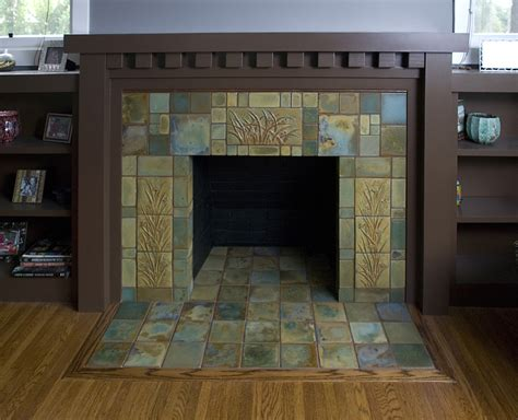 craftsman fireplace tile would to redo our fireplace like this but only if